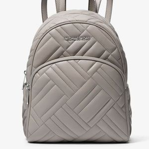 Michael Kors Quilted Leather Backpack - Gray